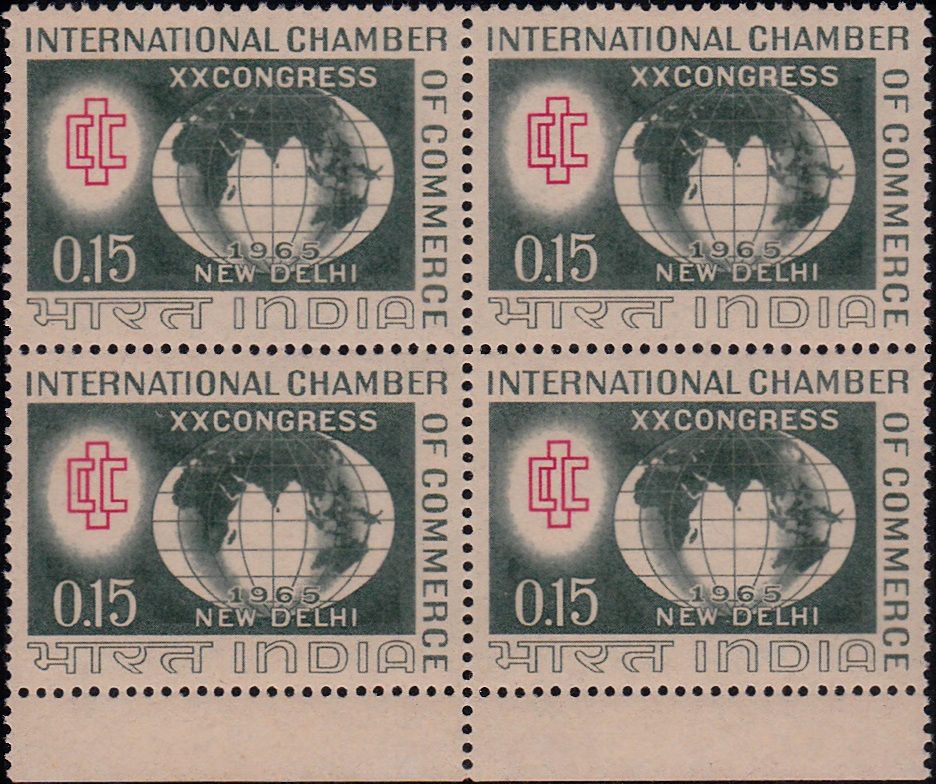 413 XX Congress International Chamber of Commerce [Block of 4]