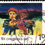India on Children's Day 1977