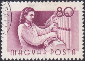 10 Textile Worker [Hungary Stamp 1955]