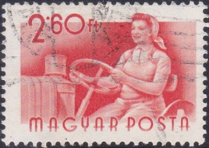 16 Woman Tractor Driver [Hungary Stamp 1955]