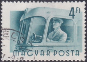 18 Bus Driver [Hungary Stamp 1955]