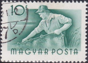 2 Fisherman [Hungary Stamp 1955]