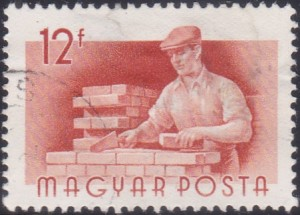 3 Bricklayer [Hungary Stamp 1955]