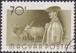 9 Cattle & Herdsman [Hungary Stamp 1955]