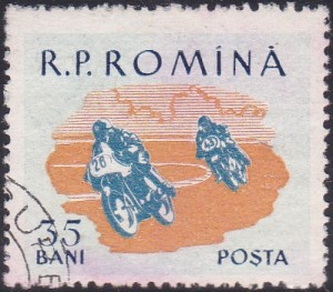 1289 Motorcycle Race [Romania Stamp]