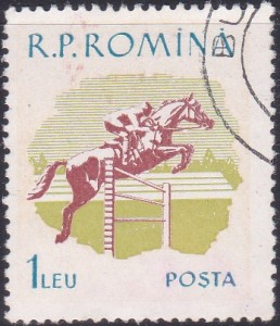 1292 Horse race [Romania Stamp]