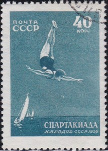 1850 Diving [Russia Games Stamp]
