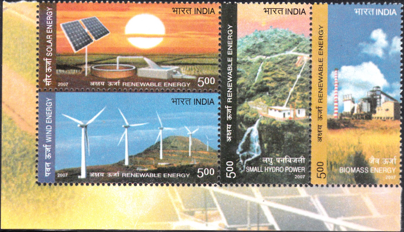 2319 Renewable Energy [India setenant block of 4 stamps]