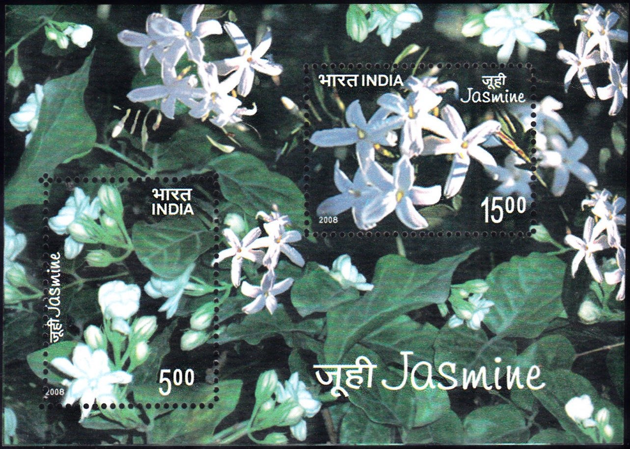 2352 Jasmine {India Miniature Sheet 2008] Scented Stamp