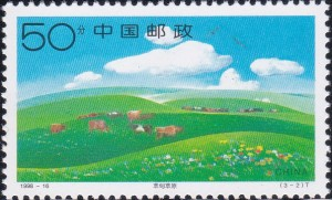 2877 Cattle grazing, flowers [Xilinguole Grassland]