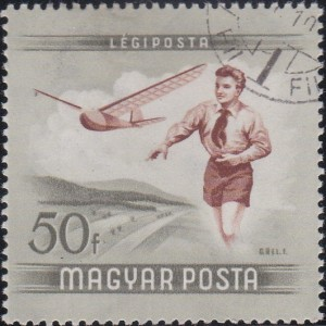 C150 Boy flying Model Glider [Hungary Stamp]