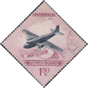 C155 Plane over Danube [Hungary Stamp]