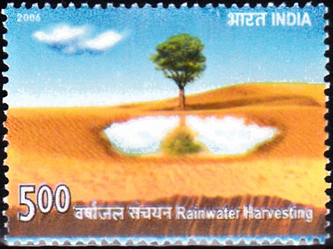 2191 Rainwater Harvesting [India Stamp 2006]