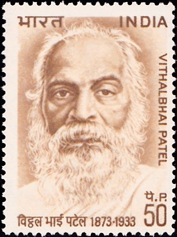 588 Vithalbhai Patel [India Stamp 1973]