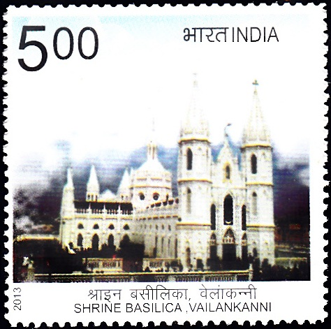 Shrine Basilica, Vailankanni [India Stamp 2013]