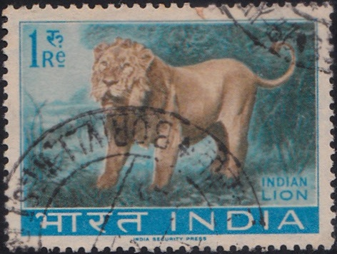 392 Indian Lion [India Stamp 1963]