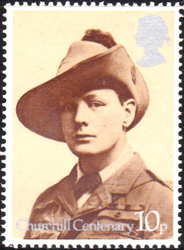 731 Churchill in Uniform of South African Light Horse Regiment, 1899 [England Stamp 1974]