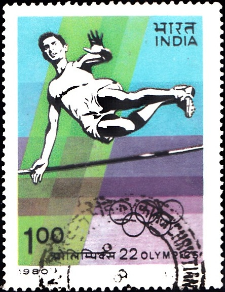 822 XXII OlympicGames, Moscow [India Stamp 1980]