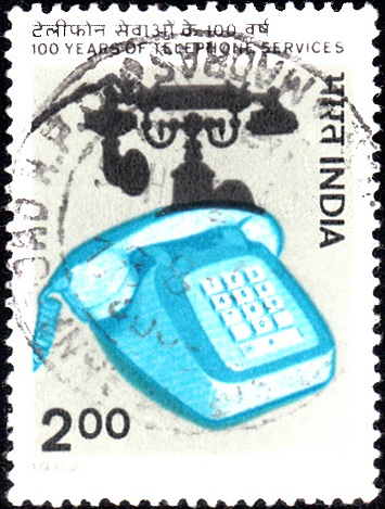 881 Centenary of Telephone Services [India Stamp 1982]
