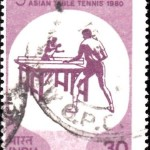 India on Fifth Asian Table Tennis 1980