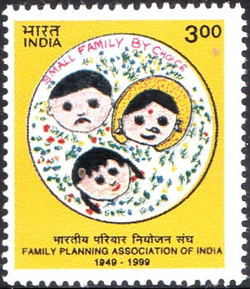 1728 Family Planning Association of India [India Stamp 1999]
