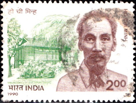 1233 Ho Chi Minh [India Stamp 1990]