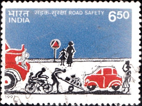1265 Road Safety [India Stamp 1991]