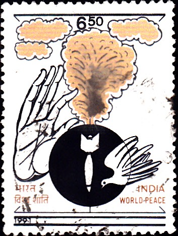 1272 World Peace [India Stamp 1991]