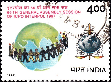 1568 Interpol [India Stamp 1997]