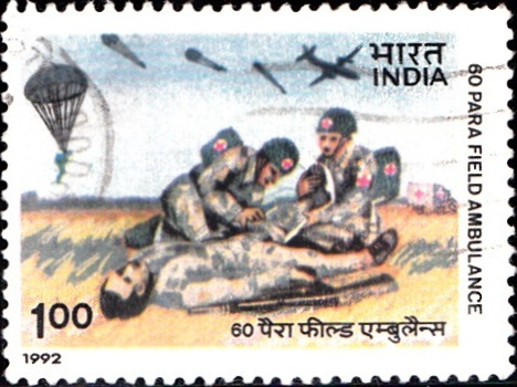1345 60 Para Field Ambulance [India Stamp 1992]