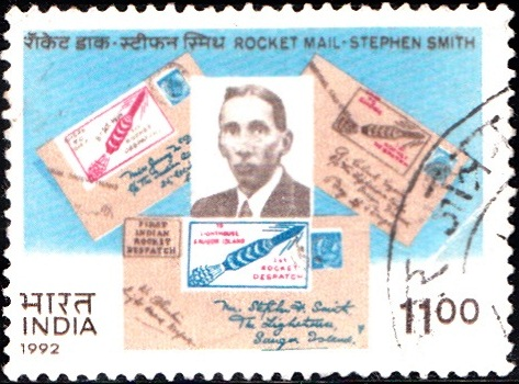 1356 Rocket Mail - Stephen Smith [India Stamp 1992]