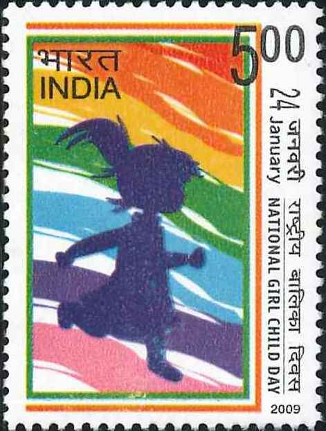 2450 National Girl Child Day [India Stamp 2009]