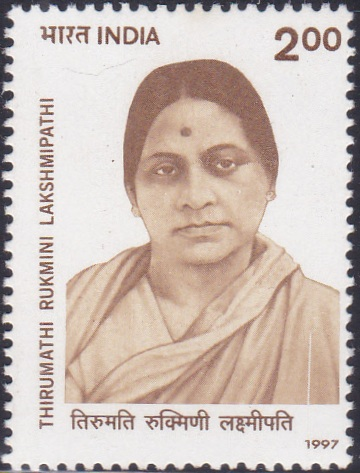1548 Thirumathi Rukmini Lakshmipathi [India Stamp 1997]
