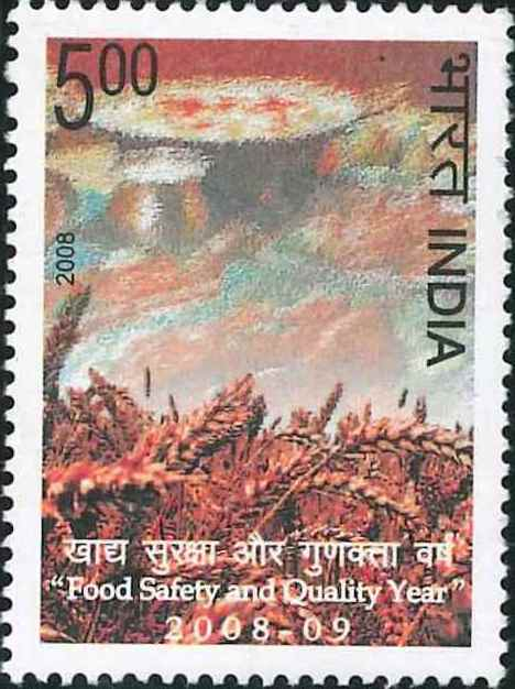 2398 Food Safety and Quality Year 2008-09 [India Stamp 2008]