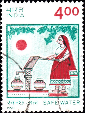 1244 Safe Water [India Stamp 1990]