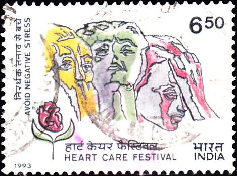 1389 Heart Care Festival [India Stamp 1993]