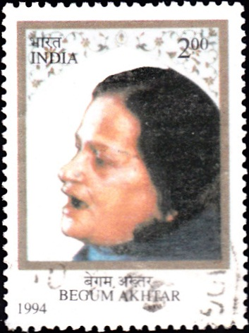 1430 Begum Akhtar [India Stamp 1994]