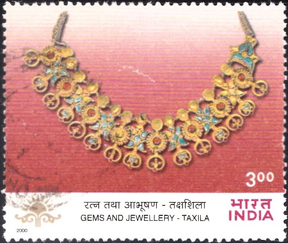 1798-gold-necklace-taxila-indian-gems-jewellery-india-stamp-2000