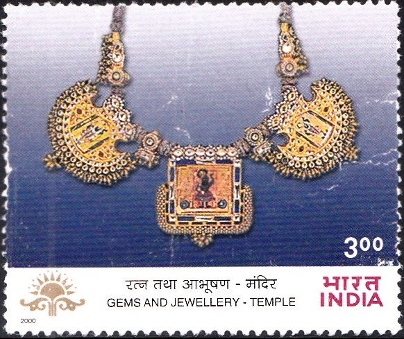 1802-kanthla-temple-necklace-rajasthan-indian-gems-jewellery-india-stamp-2000
