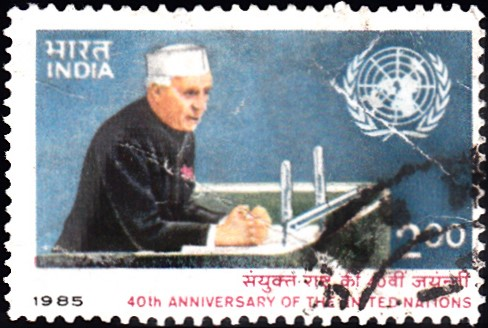 1014-nehru-addressing-un-general-assembly-india-stamp-1985