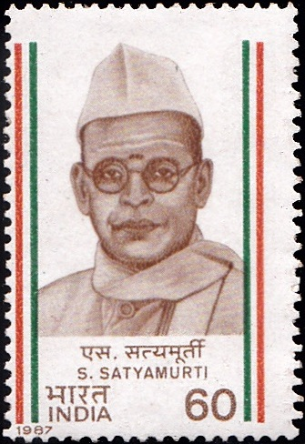 1068-s-satyamurti-india-stamp-1987