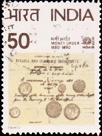 806-money-order-records-coins-india-stamp-1980