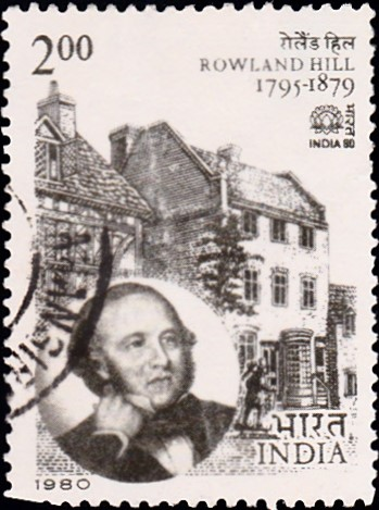 808-sir-rowland-hill-at-kidderminister-india-stamp-1980
