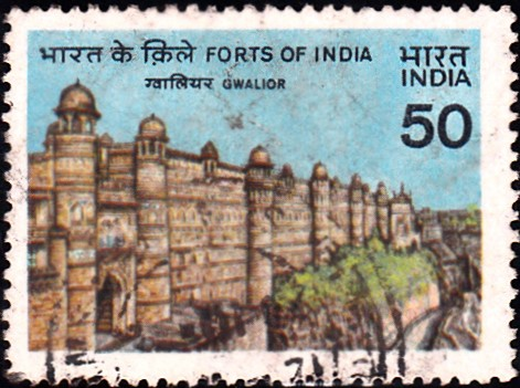 978-gwalior-fort-india-stamp-1984