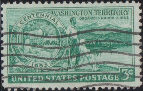 1019 Washington Territory [United States Stamp 1953]