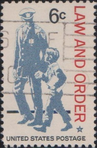 1343 Law and Order Issue [United States Stamp 1968]