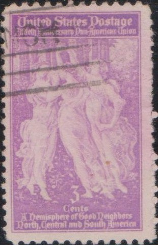 895 Pan American Union founding [United States Stamp 1940]