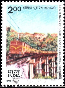 Electric Locomotive on Viaduct on Kothavalasa-Kirandul Section