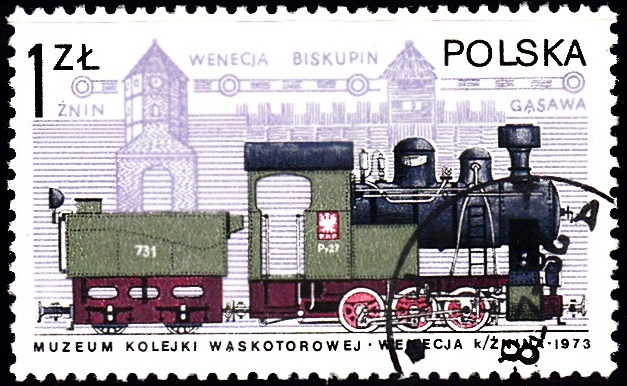 2. Narrow-Gauge Engine & Gothic Tower [Locomotives in Poland]