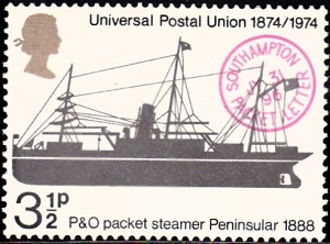 "720. Packet ""Peninsular,"" 1888, and ""Southampton Packet Letter"" Postmark"